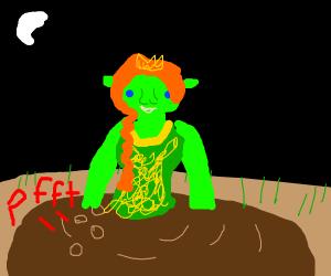 Fiona From Shrek Is Farting In Her Mud Bath Drawception