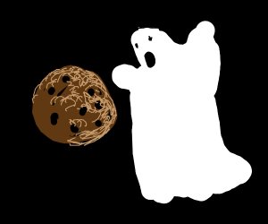 Ghost is scared of a cookie