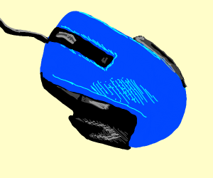 Blue speed mouse