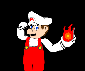Mario with fire flower