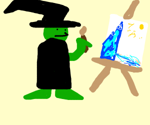 Witch does bob ross tutorial