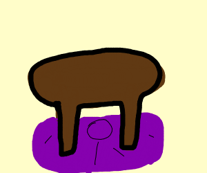 Behold a stool on a purple pillow!