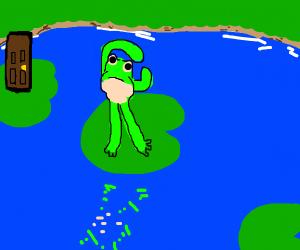 R shaped frog + door
