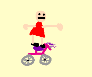 tposing girl on bike