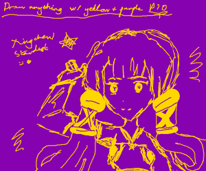 draw anything with yellow and purple pio