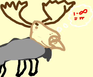 Cute & Smart Moose doing mental math