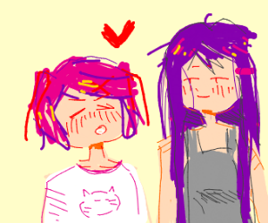 yuri and natsuki on a date