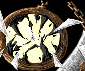 rustic pocket watch