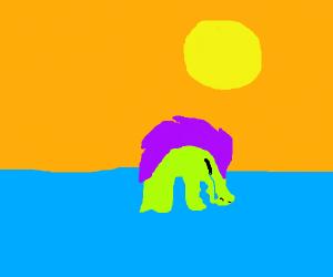 Sorrowful, sobbing sea serpent