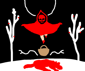 Lil' Red Riding Hood, but she's death himself