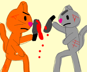warrior cats knife fight