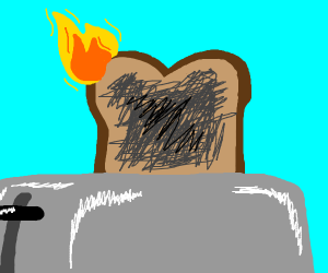 burnt bread