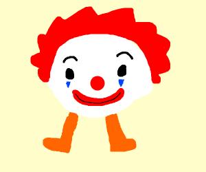 Clown face on legs
