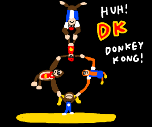 Hes the first member of the DK crew!