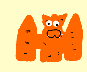 garfield merged with the fence
