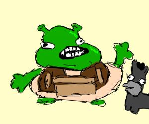 Emotionless Shrek and Donkey