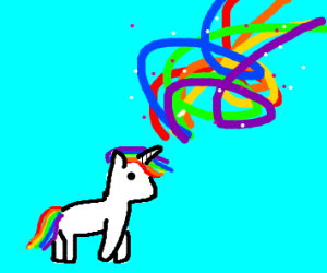 a little unicorn with magical powers