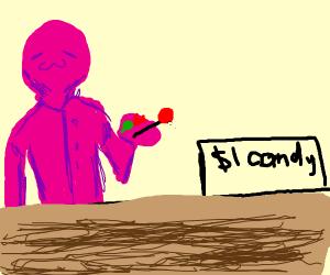 Pink man sales candy