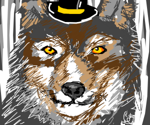 the wolf in the hat