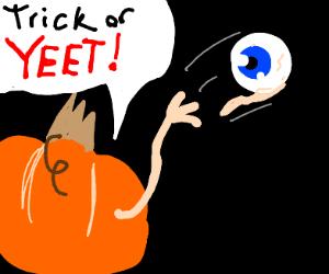 Pumpkin yeeting an eyeball