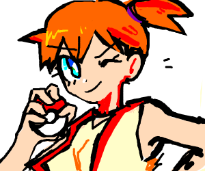 Misty owning a pokeball