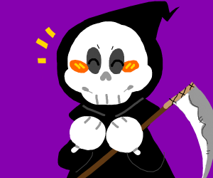cheerful grim reaper