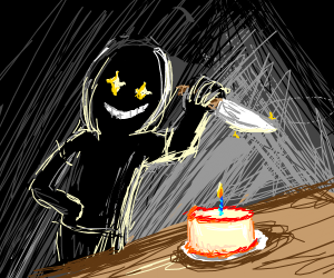 Cutting the cake but its cake murder
