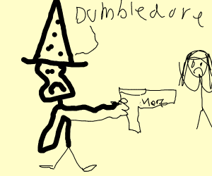 dumbledore with a nerf gun