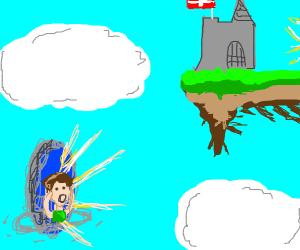 Portal to a sky kingdom