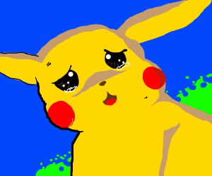 Tearful Pikachu