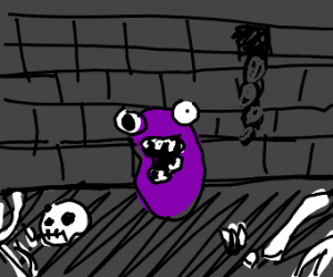 Jellybean throwed to dungeon and lost mind