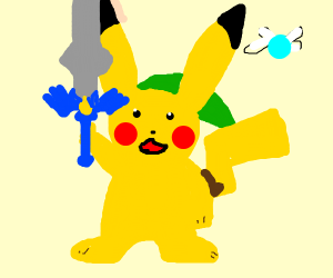 Pikachu with the Master Sword