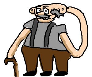 A strange looking geezer