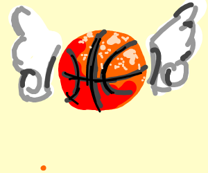 winged basketball