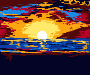 sunset over ocean