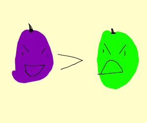 Purple grape is superior to green grape