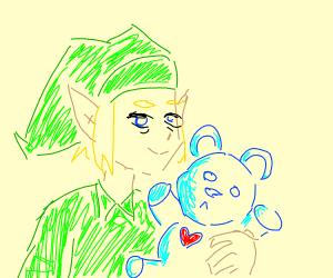 Link has a teddy bear