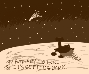 Lonely mars rover