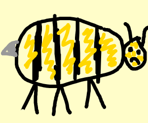 It's a.....BEE! ...Without wings?