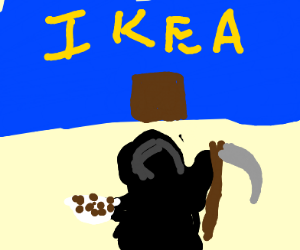 The grim reaper goes to Ikea