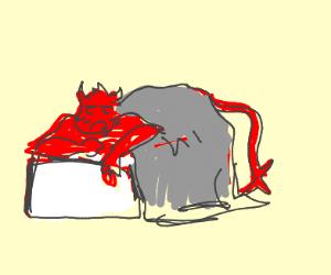 Drunk demon takes a nap