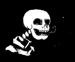 Mr skeleton thumbs up
