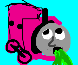Thomas the sick pink tank engine