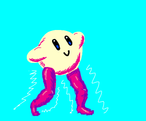 Kirby with sexy legs