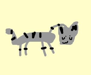 a really deep giraffe that looks like a cat