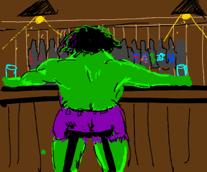 Hulk at a Bar