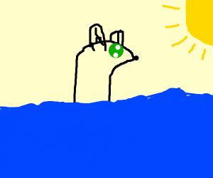 Polar Bear crossing the Ocean