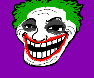 Trollface but its the Joker