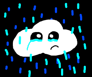 Sad Cloud in the Rain..