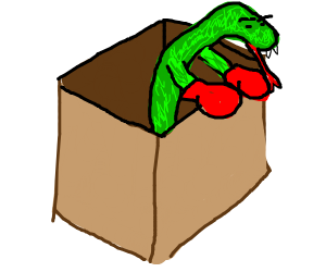 Punching snake in a box